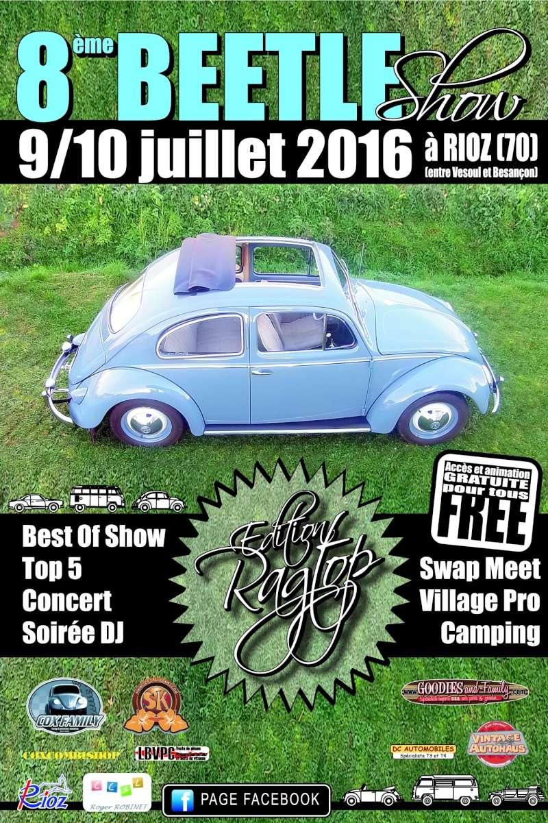 9 - 10 juillet 2016  BEETLE SHOW  RIOZ(70) Flyer_12