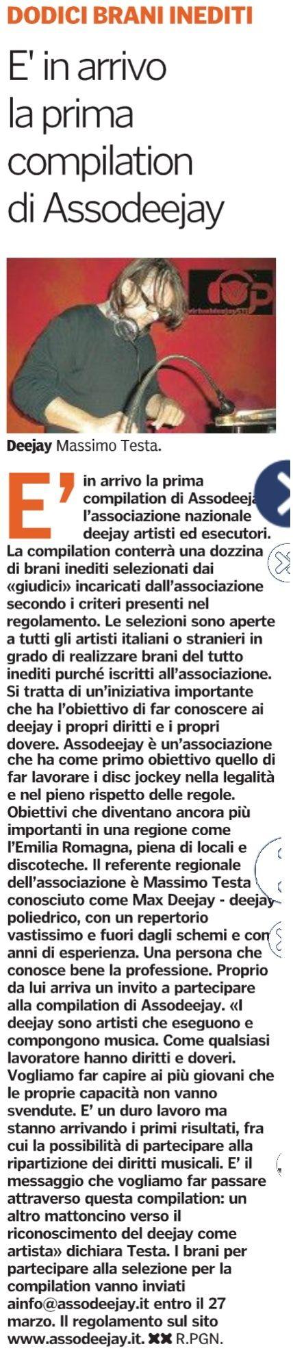 Compilation Assodeejay: Gazzetta di Parma 3 Marzo 2016 Gazzet10