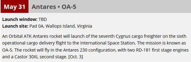 Lancement Atlas V / Cygnus OA-6 - 23 mars 2016 au KSC Launch10