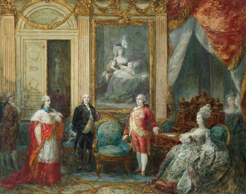 Navlet - Portraits de Marie-Antoinette par Joseph Navlet Zb101010
