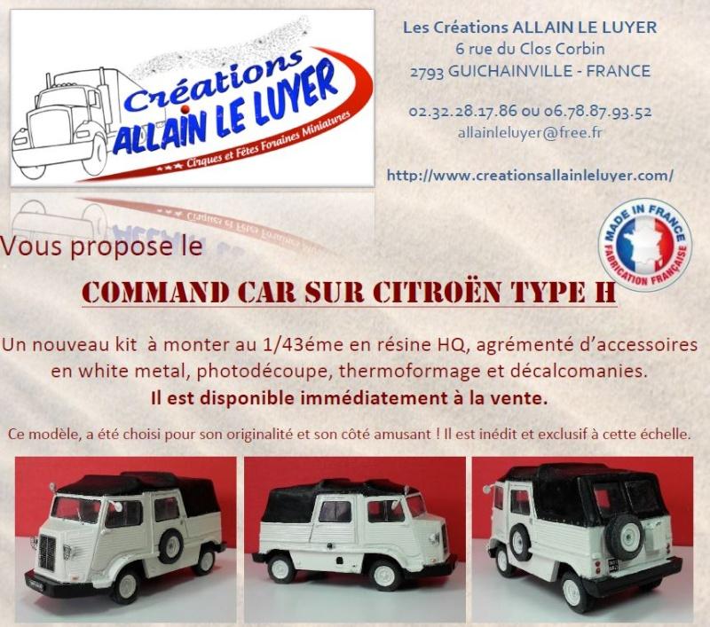 Souscription Miniature Command car sur châssis Citroën Type H 0059
