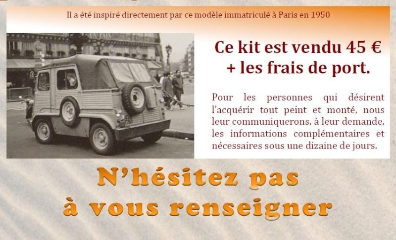 Souscription Miniature Command car sur châssis Citroën Type H 081