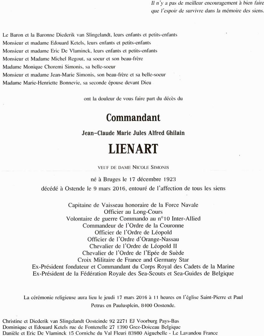 Décès du CPV (e.r.) LIÉNART Jean-Claude 12829410