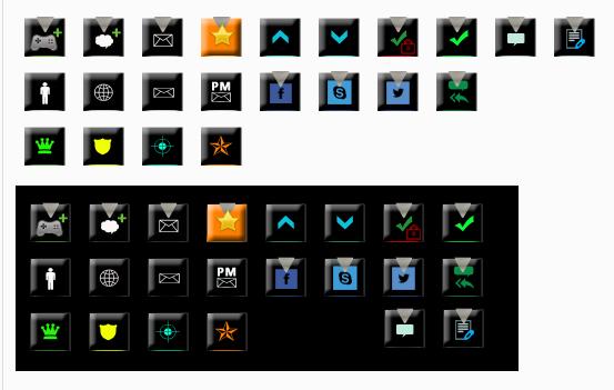 [Button] Set black vector forum buttons  Scree116