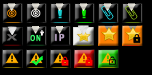 [Button] Set black vector forum buttons  Scree128