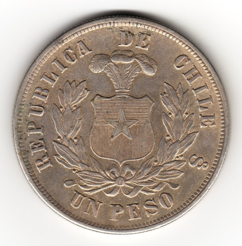 1 Peso. Chile. 1881.  230_110