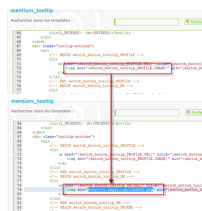 Modifier les icônes de l'aperçu du profil sur mentions 18-02-13