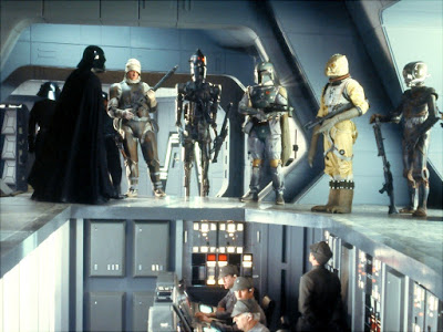 Scène de chasseur de primes passerelle de l'Executor star wars Bounty10