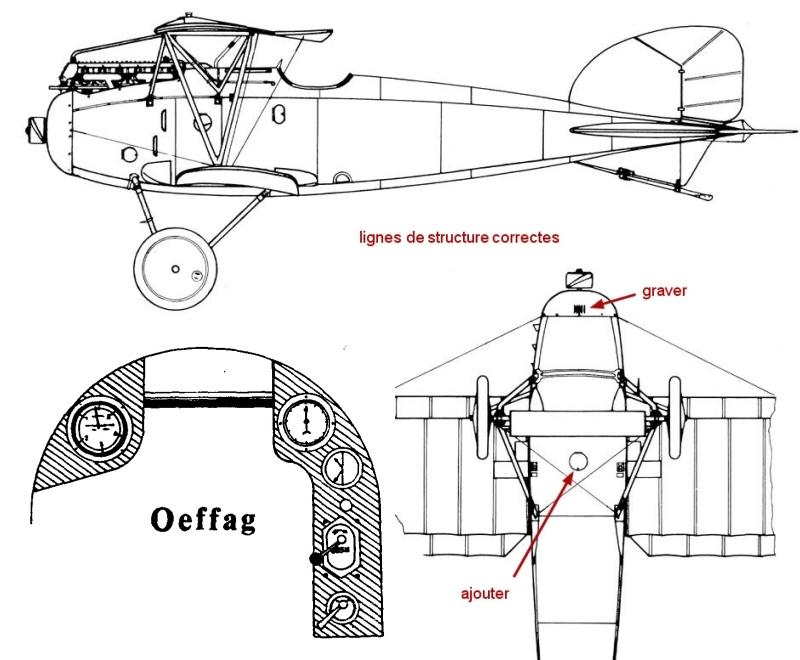Montage: Albatros D-III Oeffag début de série 153 / Roden 1/72 Montag12