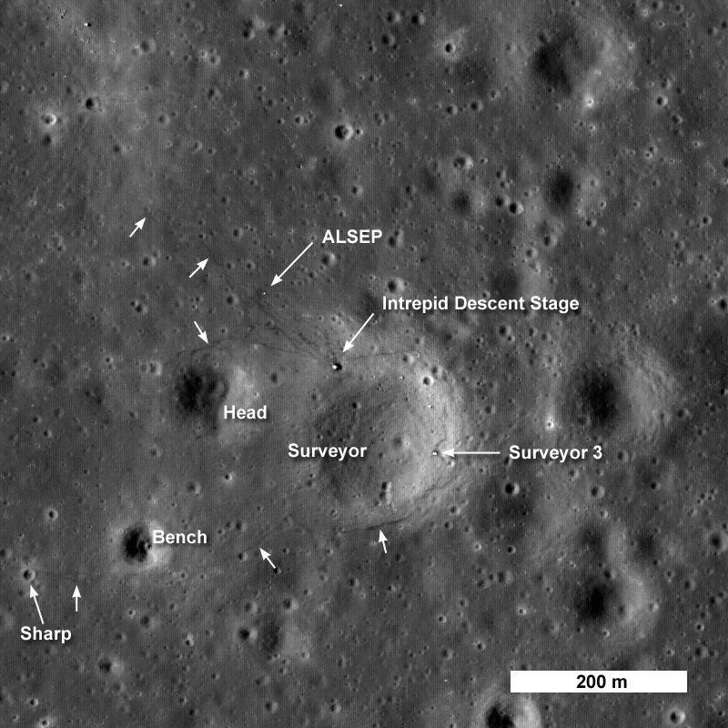 apollo 12 par LRO M1046610
