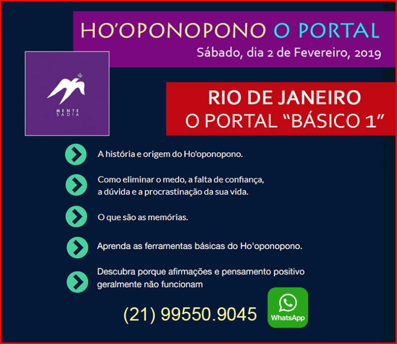 Vivência no Portal - Ho´oponopono, Rio de Janeiro a ser marcada! Whatsa10