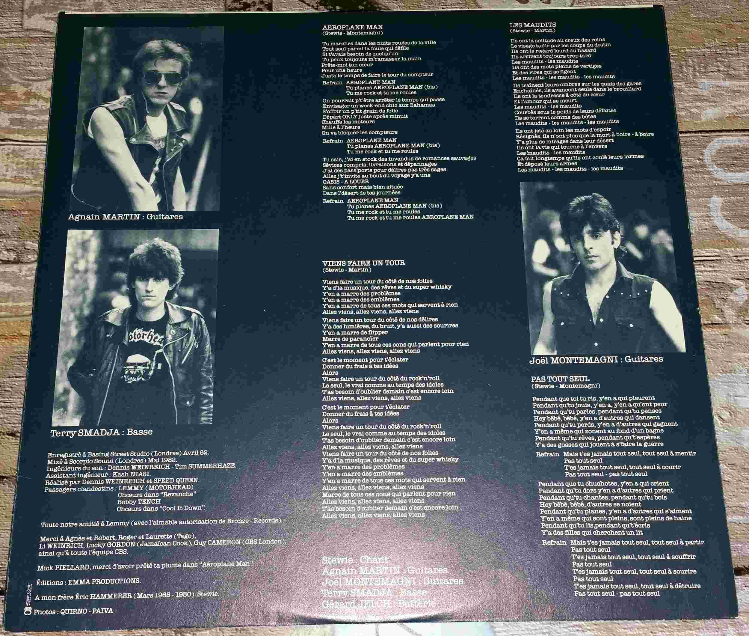SPEED QUEEN Speed Queen (1982) Toutes les paroles de l'album ... 20160315