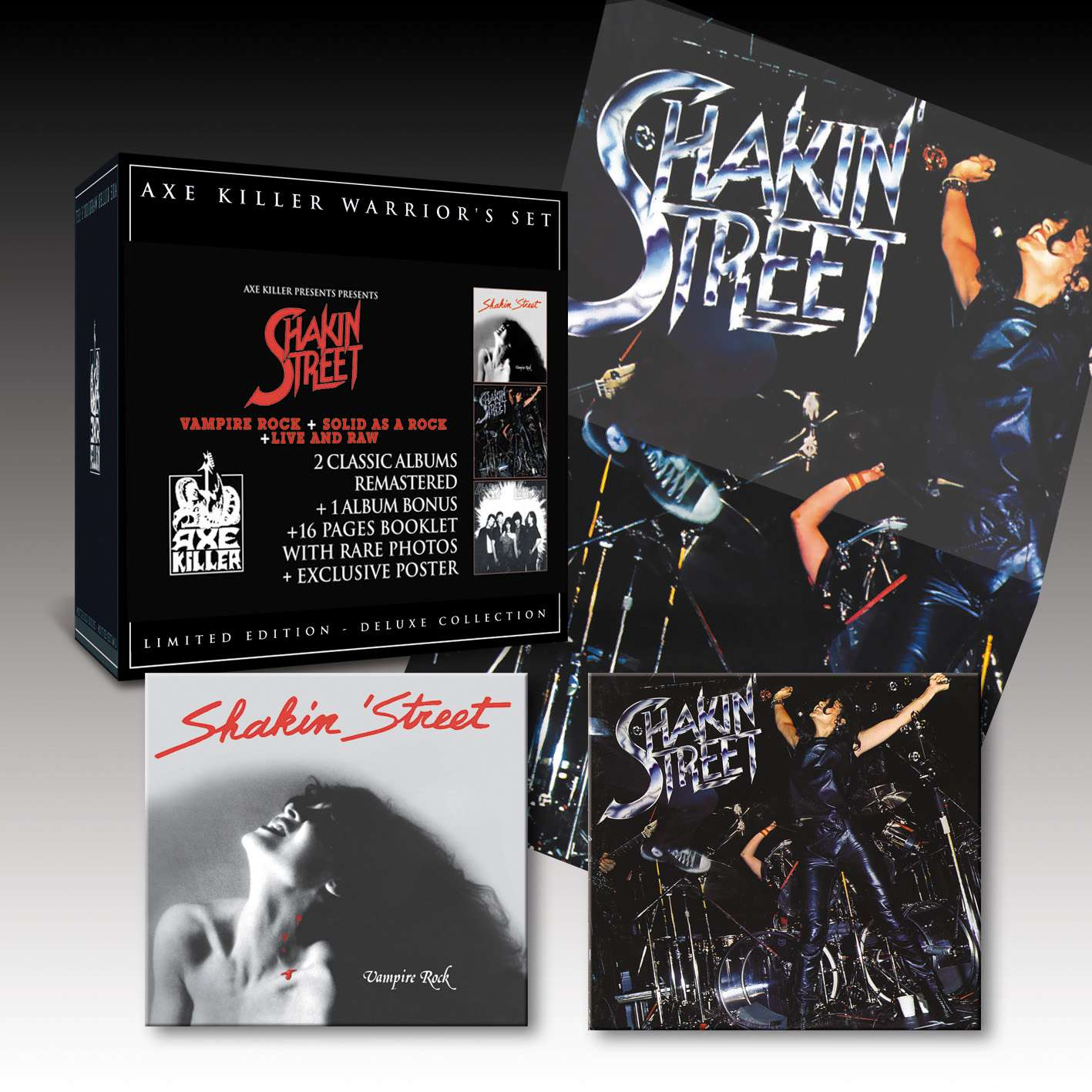 SHAKIN' STREET Warrior's Set : Vampire Rock + Solid As A Rock - Live And Raw (Edition 2009) Ax090810