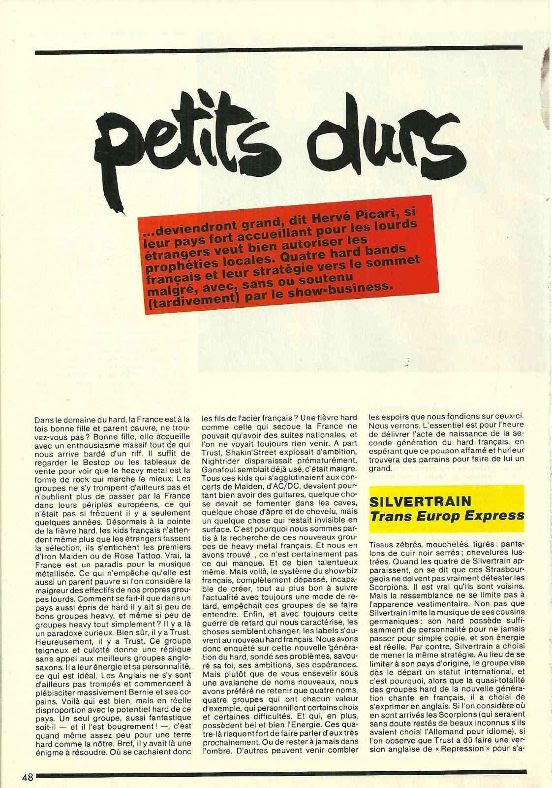Les petits durs (Article écrit par Hervé Picard) MAG Metal Attack Numyri16