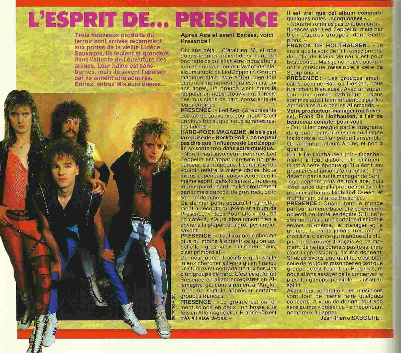 PRESENCE Rock Your Life (1986-2015) Glam Rock Numyri24
