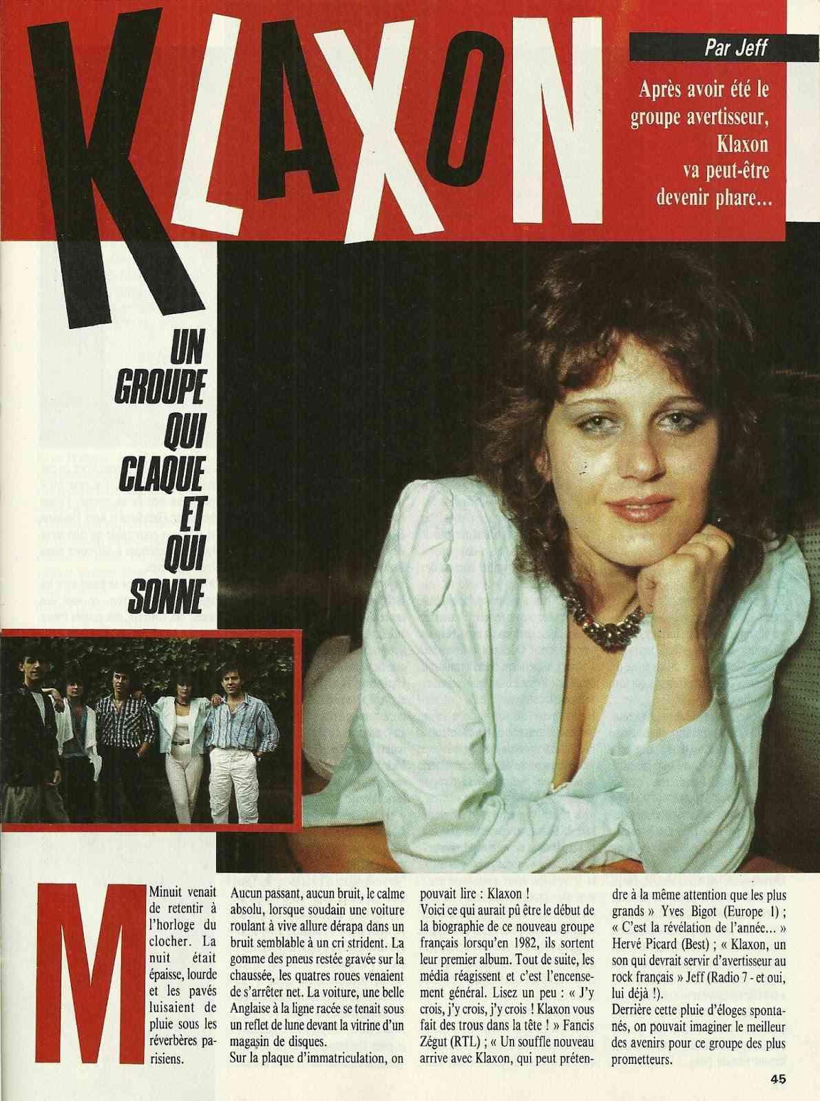 """KLAXON interview dans """"Metal Attack"""" Juillet 1985 Numyri25"""
