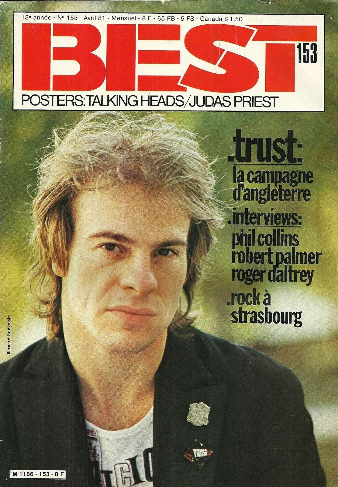 TRUST dans Best Avril 1981 (Article d'époque) Numyri48