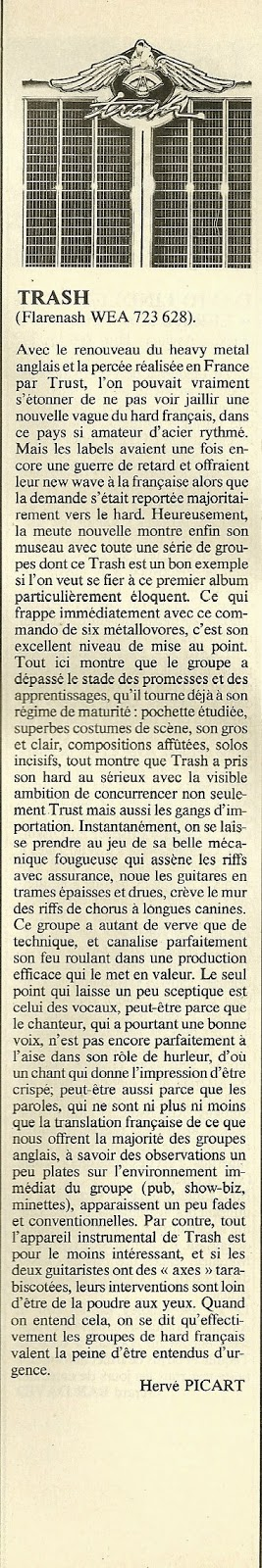 TRASH Chronique 1er album et article d'époque ... Trash_11