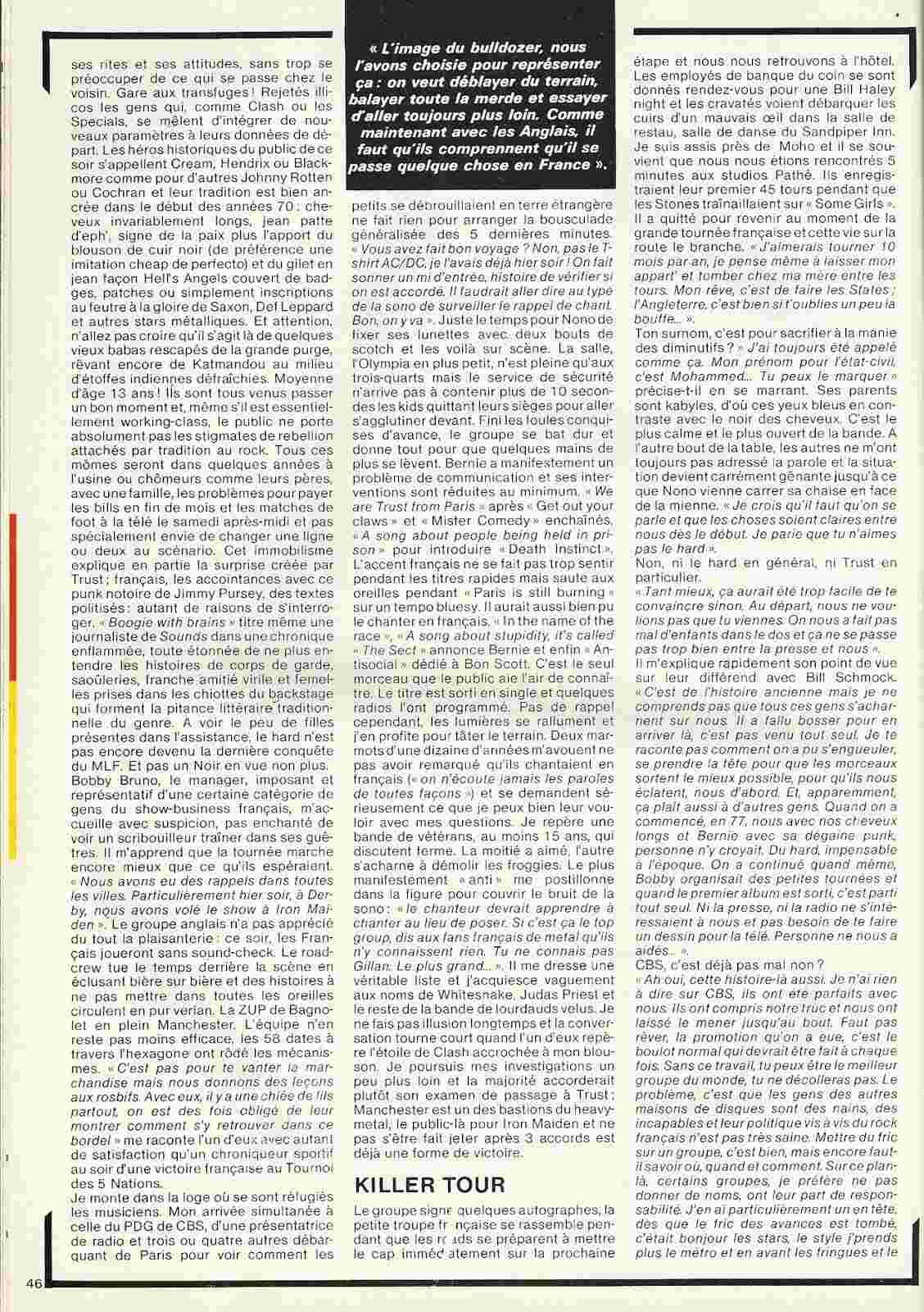 TRUST dans Best Avril 1981 (Article d'époque) Trust_11