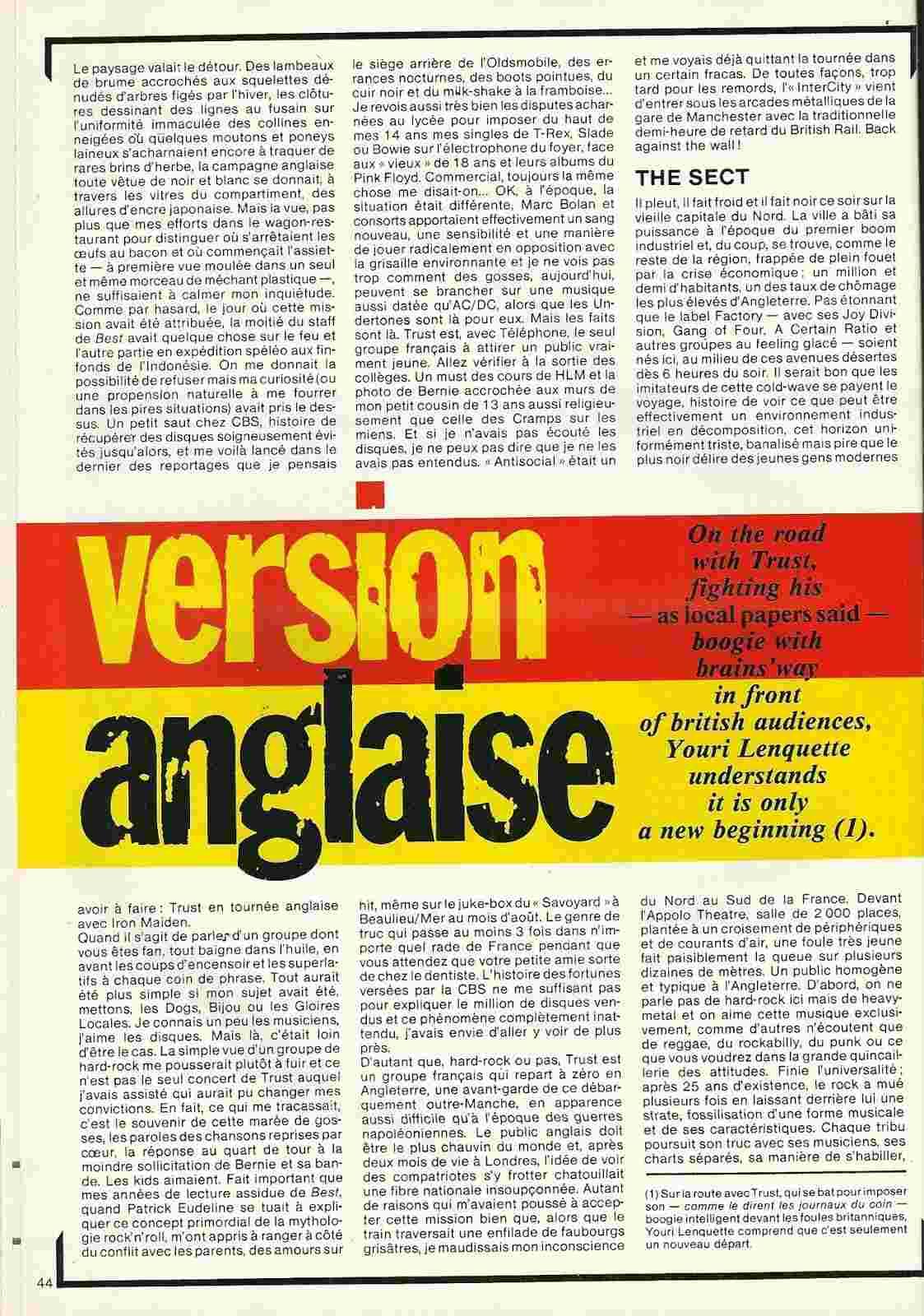 TRUST dans Best Avril 1981 (Article d'époque) Trust_12