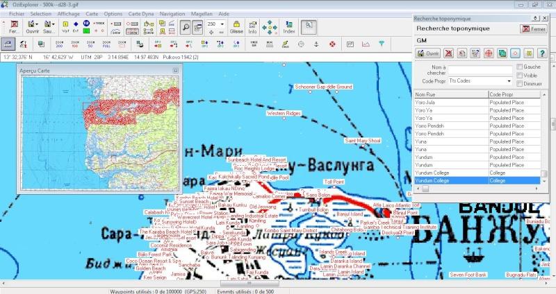 OziExplorer et ses liaisons cartographiques Captur16