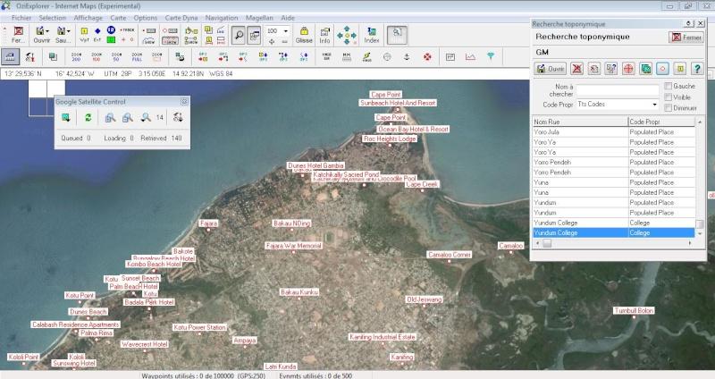 OziExplorer et ses liaisons cartographiques Captur17