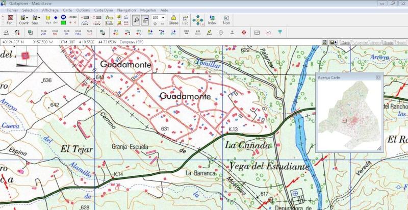 OziExplorer et ses liaisons cartographiques Captur23