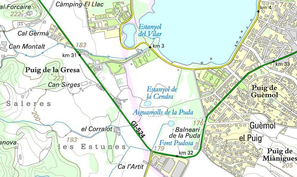 Sortida Julol 2009 Banyoles Mapa_z10
