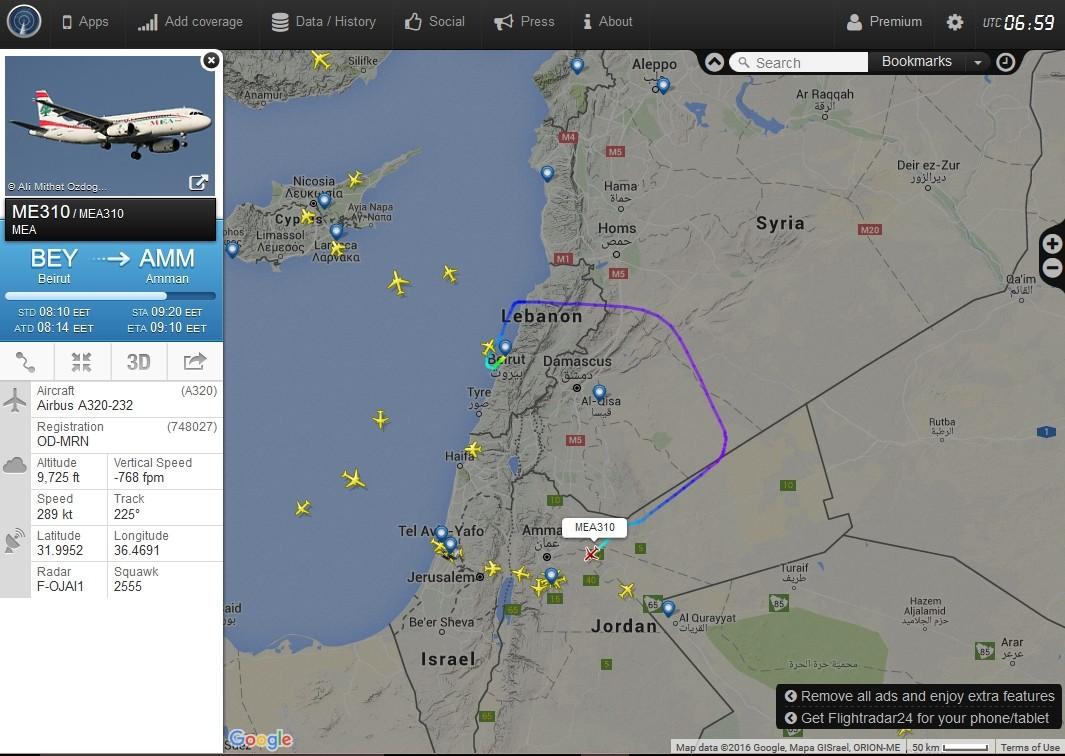 radarvirtuel.com/Flightradar24.com : tous les avions en vol en direct sur une carte - Page 3 Beyrou11