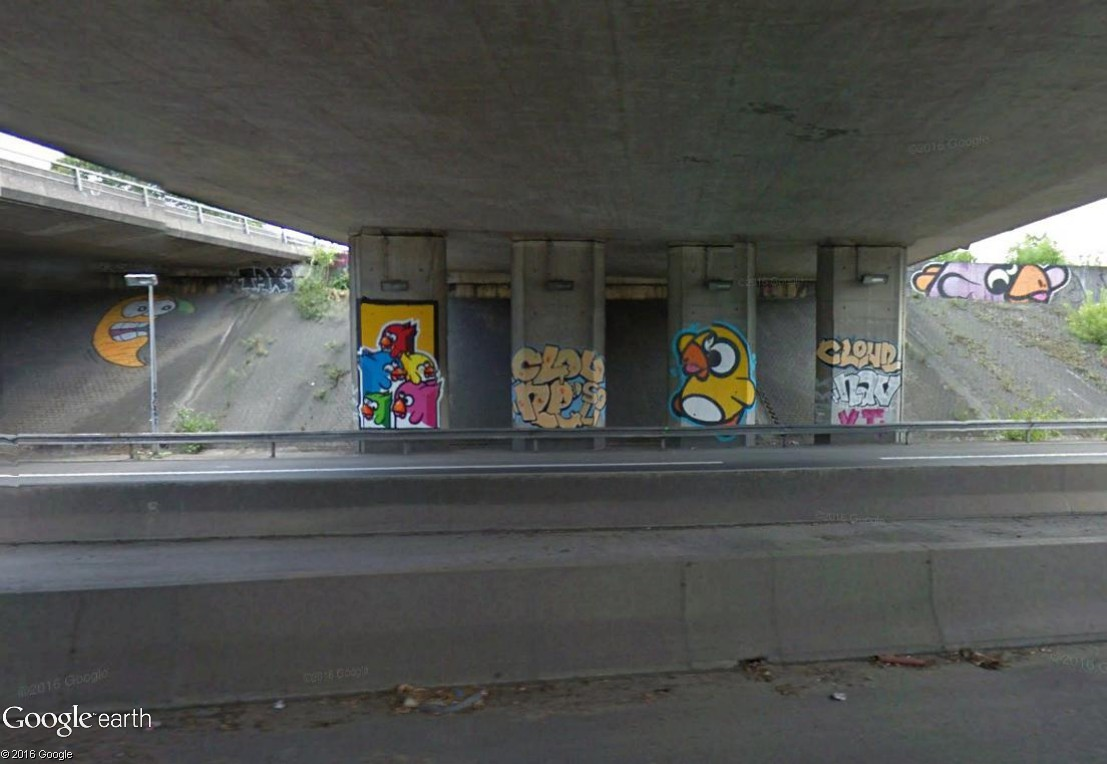 STREET VIEW : street art, grafs, tags et collages - Page 5 Birds10