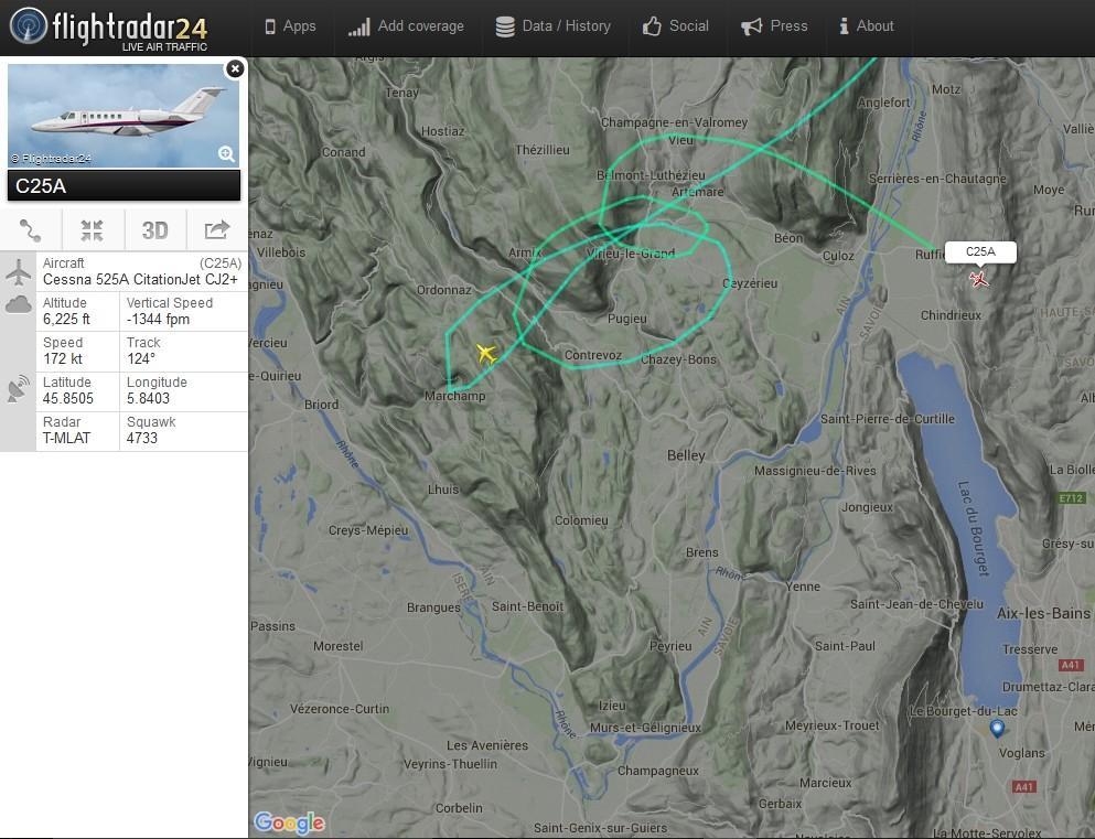 radarvirtuel.com/Flightradar24.com : tous les avions en vol en direct sur une carte - Page 2 Chamby11