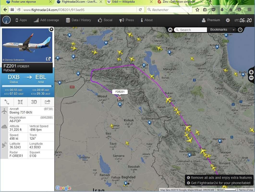 radarvirtuel.com/Flightradar24.com : tous les avions en vol en direct sur une carte - Page 3 Dubai_11