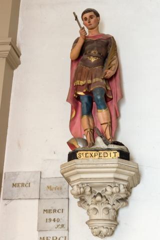 Saint Expédit , icône de la Réuinon Statue10