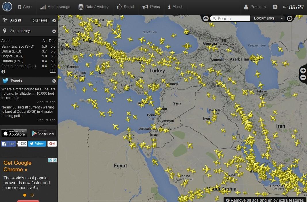 radarvirtuel.com/Flightradar24.com : tous les avions en vol en direct sur une carte - Page 3 Syrie11