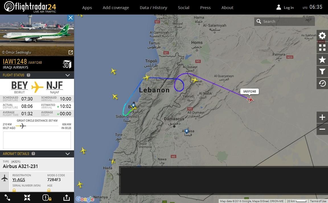 radarvirtuel.com/Flightradar24.com : tous les avions en vol en direct sur une carte - Page 3 Syrie_12