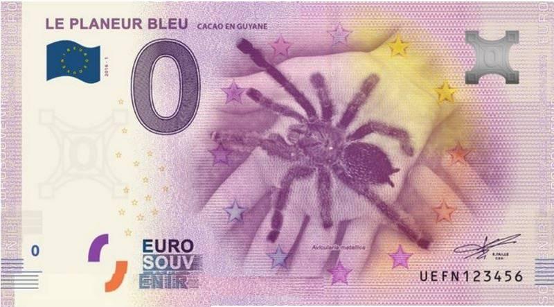 Billets Euro Souvenir = 11 Guyane10