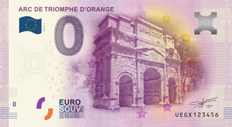 Billets 0 € Souvenirs  [SUD = 66] Orange10
