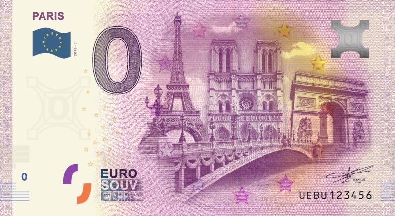 Billets 0 € Souvenirs  [Paris = 81] Parisb10