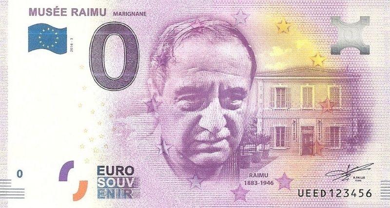 Billets 0 € Souvenirs  [SUD = 62] Raimu12