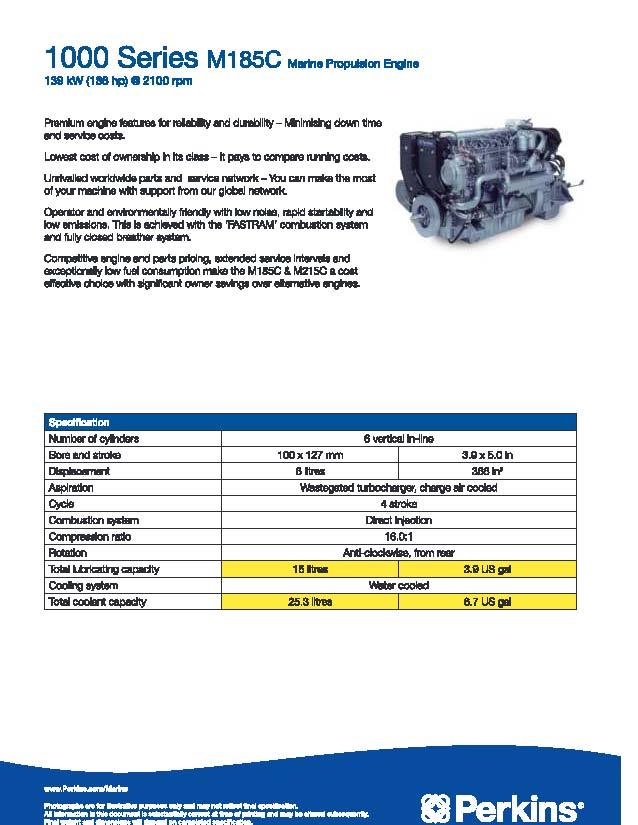 Cung cấp máy thuỷ Perkins mới công suất: 86, 150, 186, 190, 215, 216, 250, 300hp. M185_p10