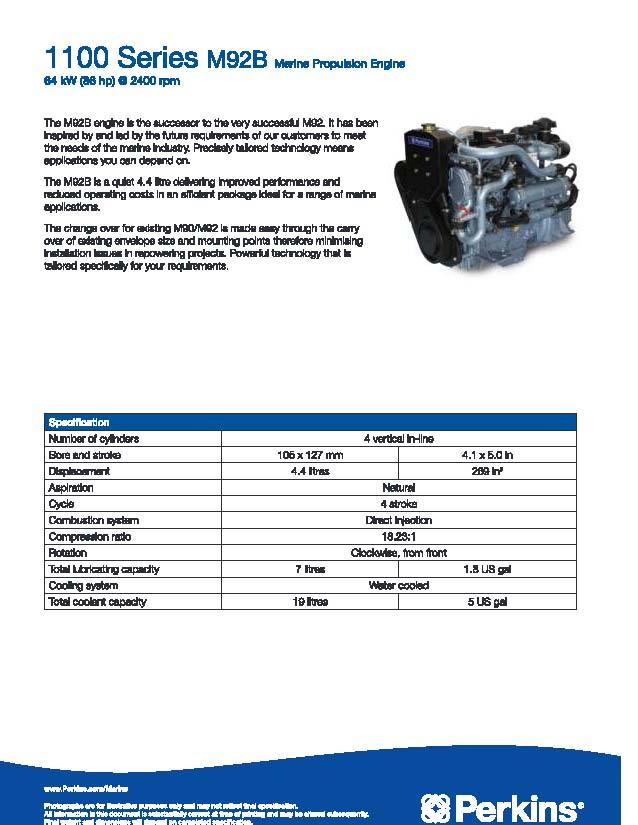 Cung cấp máy thuỷ Perkins mới công suất: 86, 150, 186, 190, 215, 216, 250, 300hp. M92_pa10