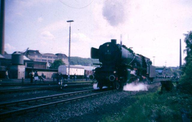 Schnellzug - Dampflok 01 150 in Bochum Dahlhausen 1987 01_15011