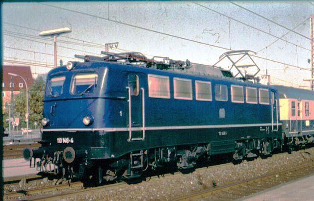 Die E-Lok Baureihe 110 / E10 der DB 110_1411