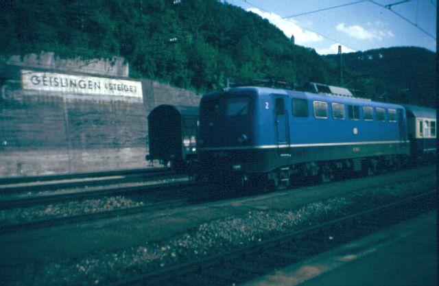 Die E-Lok Baureihe 110 / E10 der DB 110_1813