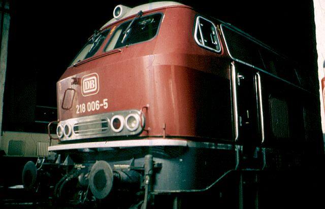 Die V160-Familie, Baureihe 210-219 der DB 218_0010