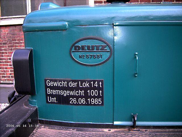 Deutz Werkslok / Museumslok Firma Eickhoff Bochum Eickho12