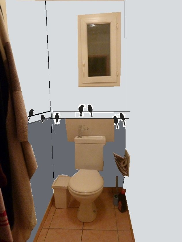 Idée simple de déco pour des WCs Prop410