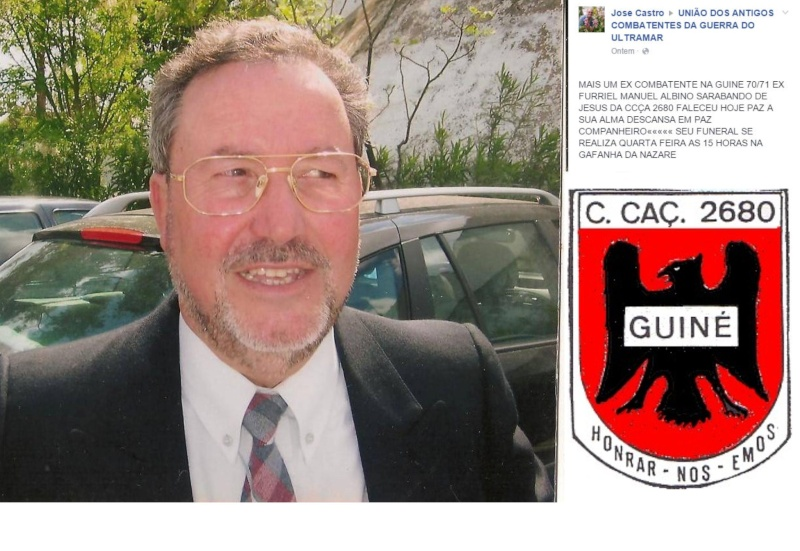 Faleceu o veterano Manuel Albino Sarabando de Jesus, Furriel Mil.º de Infantaria, da CCac2670 - 16Fe Manuel10