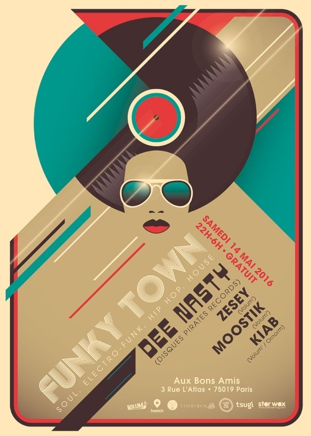 Funky Town: Dee Nasty, Zesey, Moostik & Kiab - 14/05/16 - Bo Funky_10