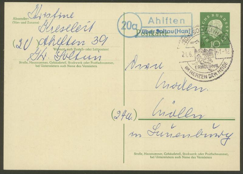 nach - Deutschland  -  Landpoststempel (Poststellenstempel) - Seite 2 Ahlfte10